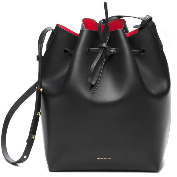 Mansur Gavriel Handbags - Mansur Gavriel Bucket Bag Large - Black Flamma